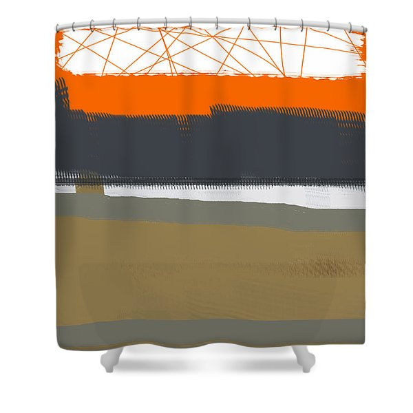 Abstract Orange 1 Shower Curtain