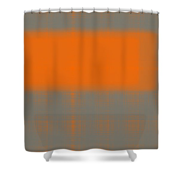Abstract Orange 3 Shower Curtain