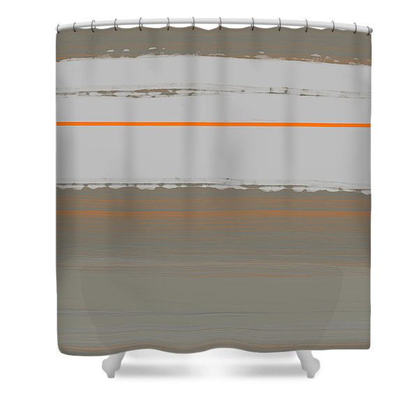 Abstract Orange 4 Shower Curtain