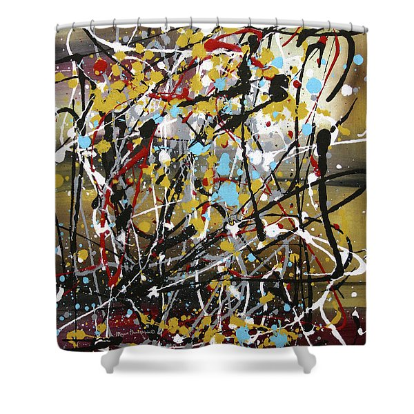 Abstract Original Art Contemporary Painting Energized I By Megan Duncanson Shower Curtain