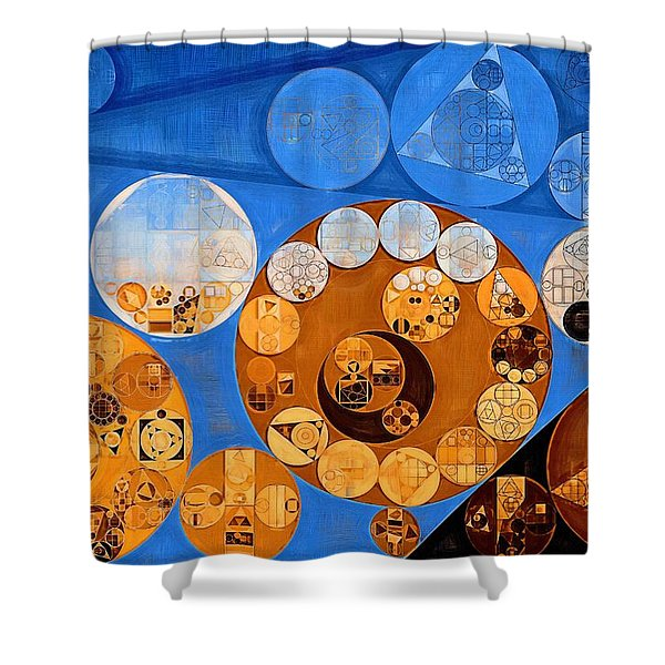 Abstract Painting - Baker's Chocolate Shower Curtain