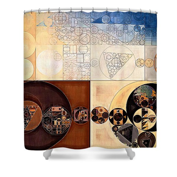Abstract Painting - Dairy Cream Shower Curtain