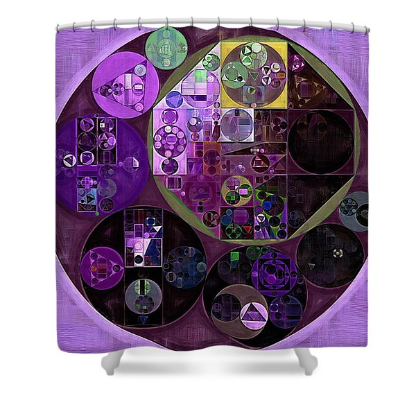 Abstract Painting - Dark Byzantium Shower Curtain