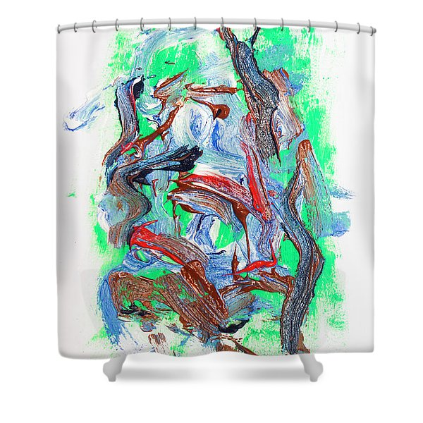 Abstract Painting. Division Is Their Narrative Shower Curtain