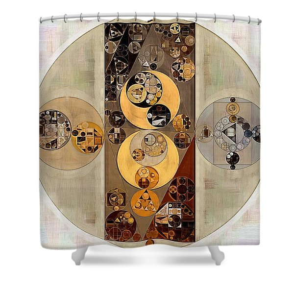 Abstract Painting - Wan White Shower Curtain