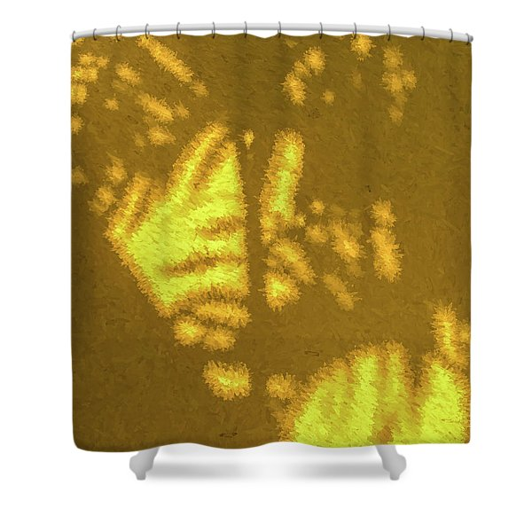 Abstract Palm Shower Curtain