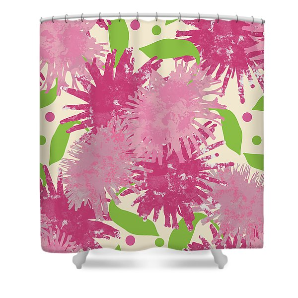 Abstract Pink Puffs Shower Curtain