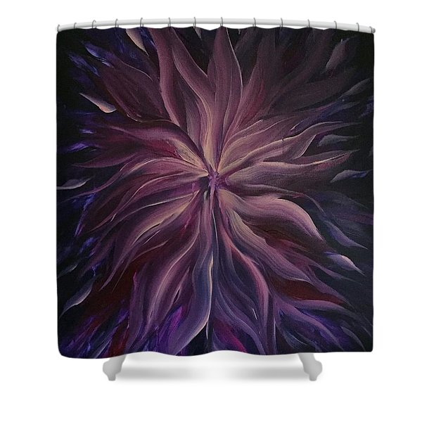 Abstract Purple Flower Shower Curtain