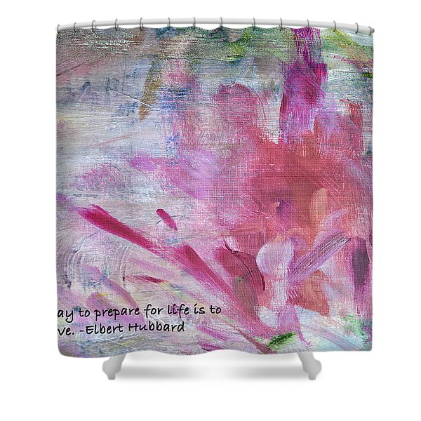 Famous Quotes Hubbard Shower Curtain