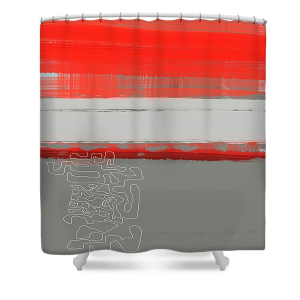 Abstract Red 1 Shower Curtain