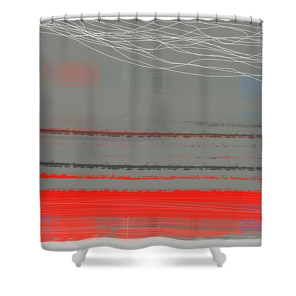 Abstract Red 2 Shower Curtain