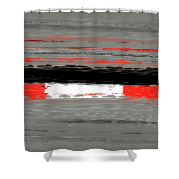 Abstract Red 4 Shower Curtain