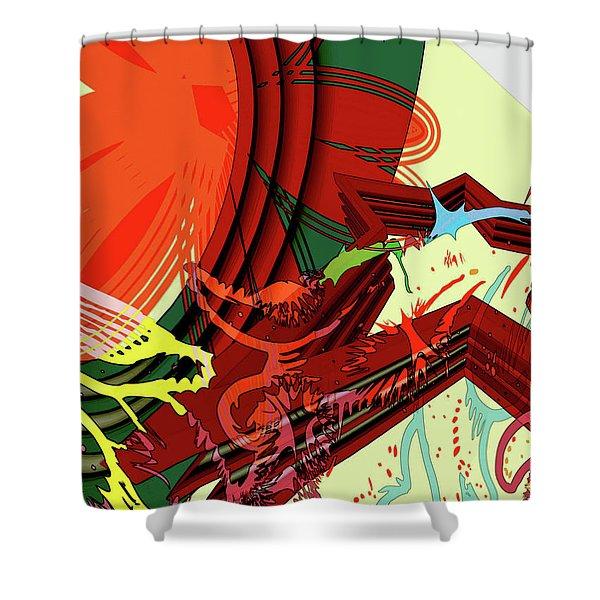 Abstract Rhetoric Shower Curtain