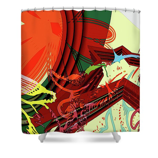 Abstract Rhetoric Shower Curtain
