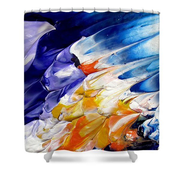 Abstract Series 0615a-4-l1 Shower Curtain