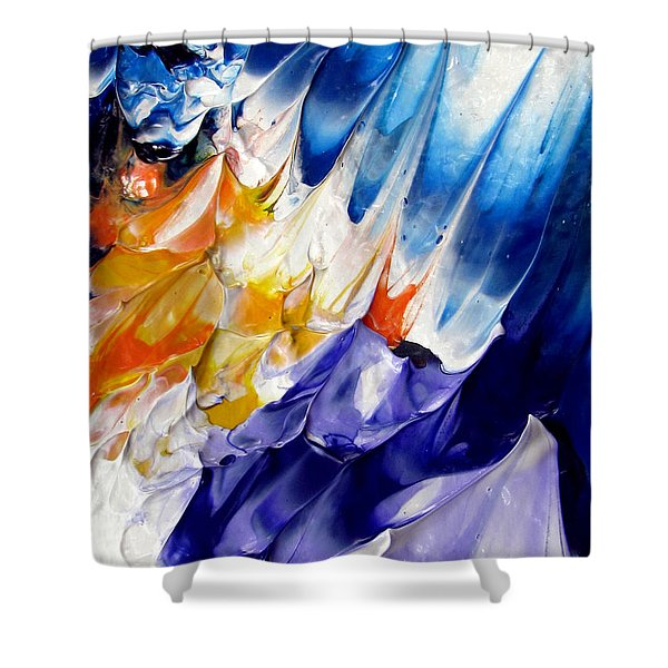 Abstract Series 0615a-6p1 Shower Curtain