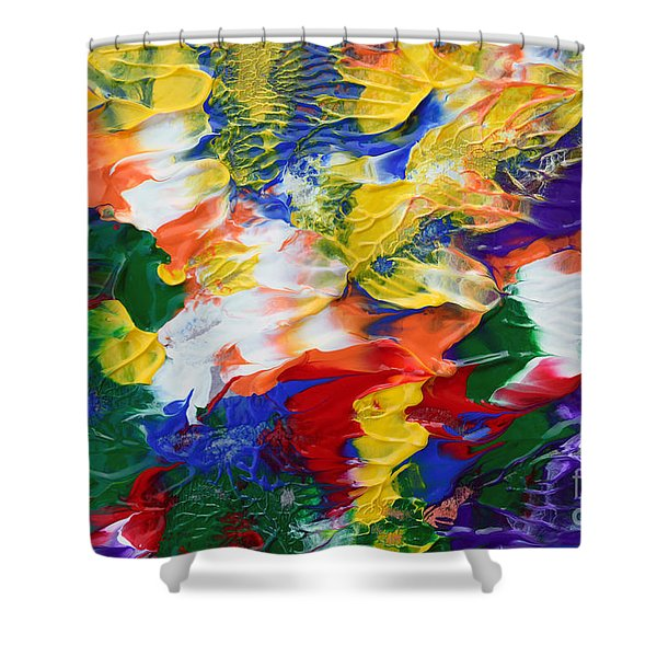 Abstract Series A1015ap Shower Curtain