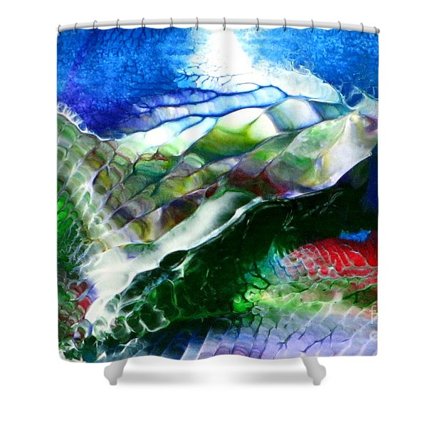 Abstract Series B Shower Curtain
