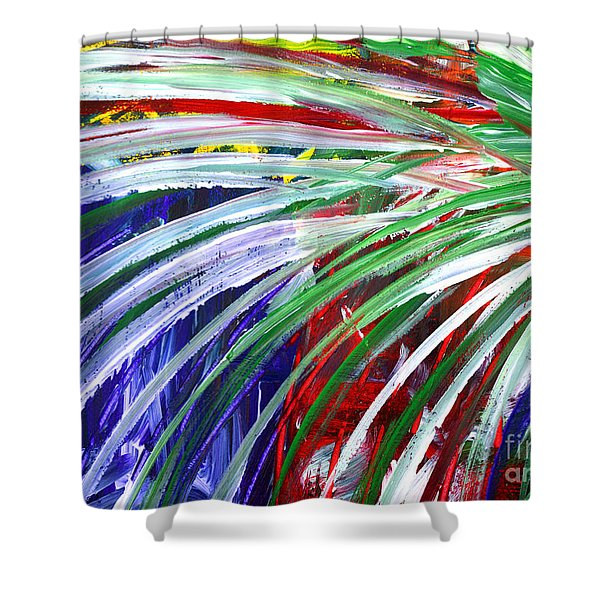 Abstract Series C1015bl Shower Curtain