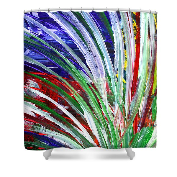 Abstract Series C1015bp Shower Curtain