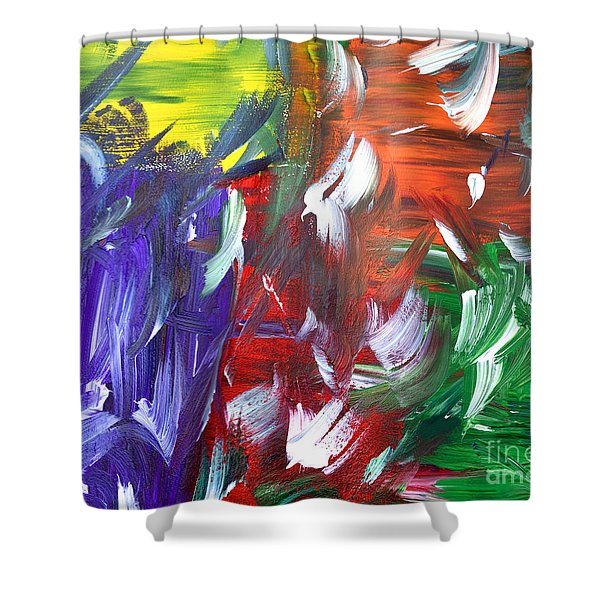 Abstract Series E1015al Shower Curtain