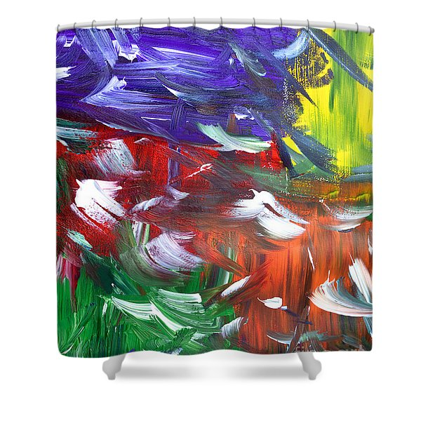 Abstract Series E1015ap Shower Curtain