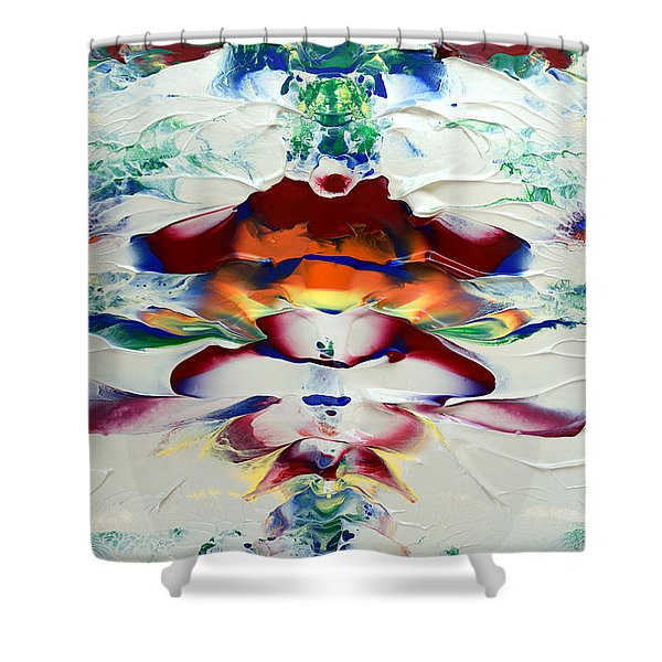 Abstract Series H1015a Shower Curtain