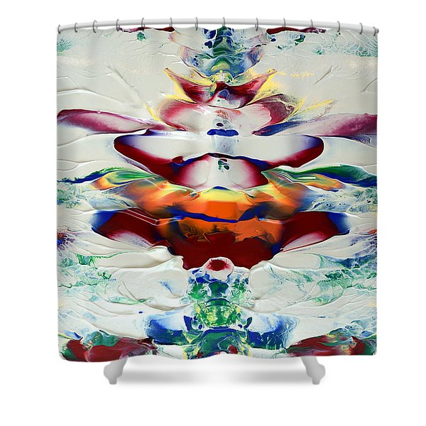 Abstract Series H1015al Shower Curtain