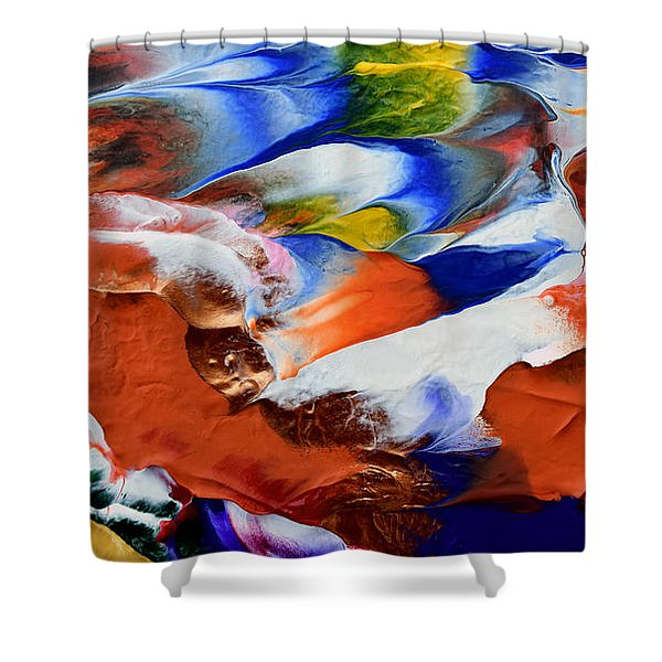 Abstract Series N1015al  Shower Curtain
