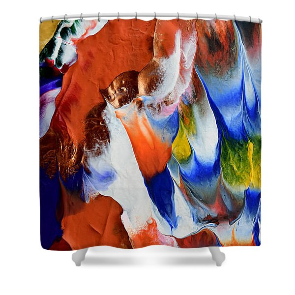 Abstract Series N1015bp Copy Shower Curtain