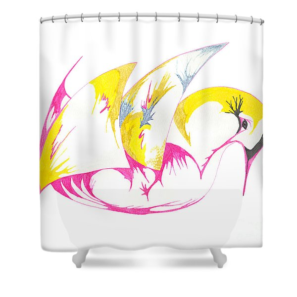 Abstract Swan Shower Curtain