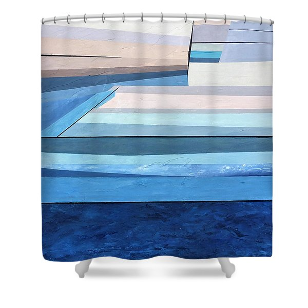 Abstract Swimming Pool Shower Curtain