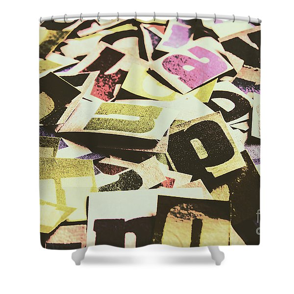 Abstract Typescript Shower Curtain