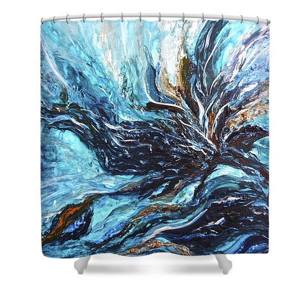 Abstract Water Dragon Shower Curtain