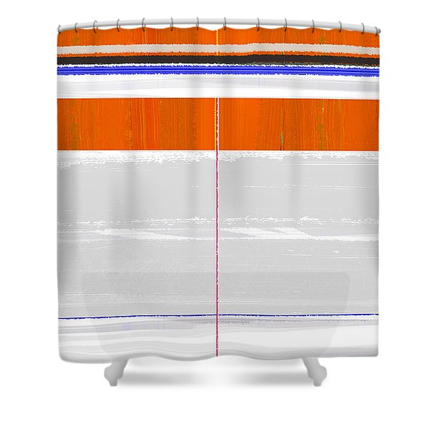 Abstract Way Shower Curtain