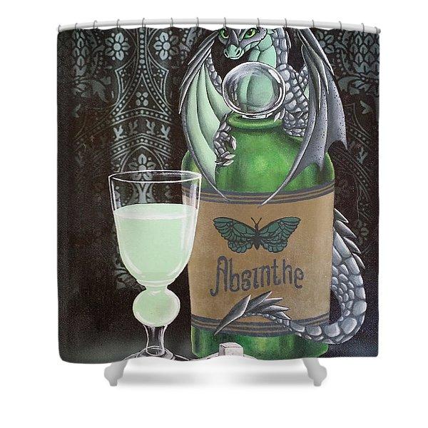Absinthe Dragon Shower Curtain