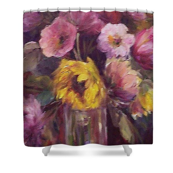 Abundance- Floral Painting Shower Curtain