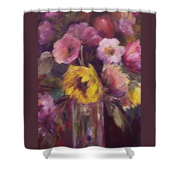 Abundance- Floral Painting Shower Curtain