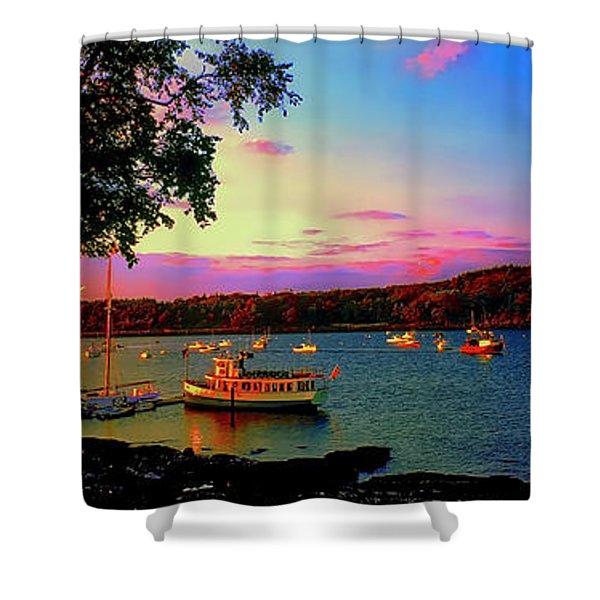 Acadia Bar Harbor Sunset Cruises.tif Shower Curtain