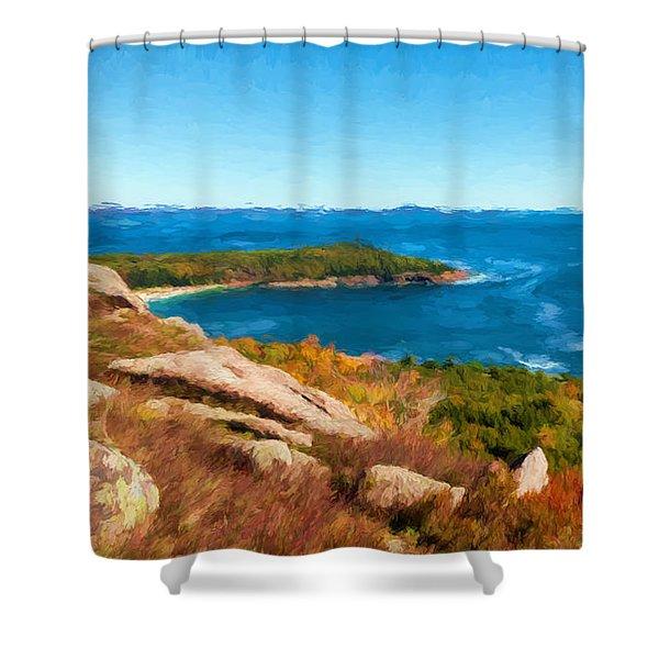 Acadia's Sand Point Shower Curtain