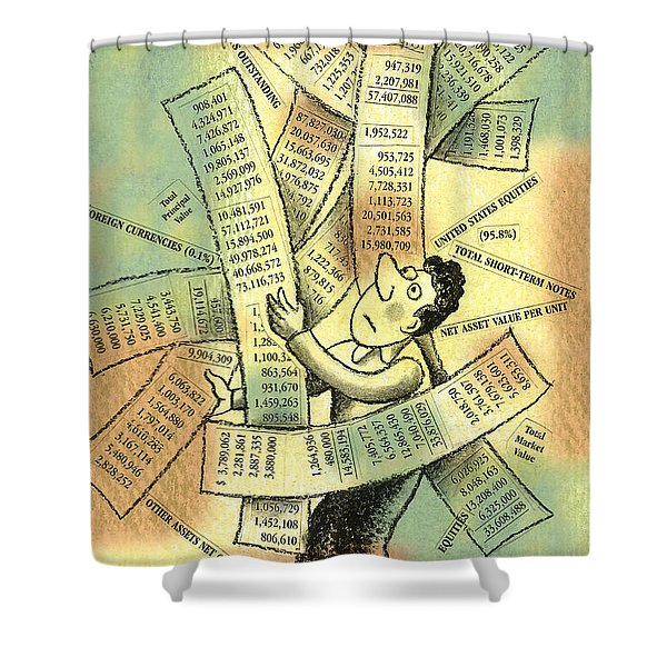 Accounting And Bookkeeping Shower Curtain