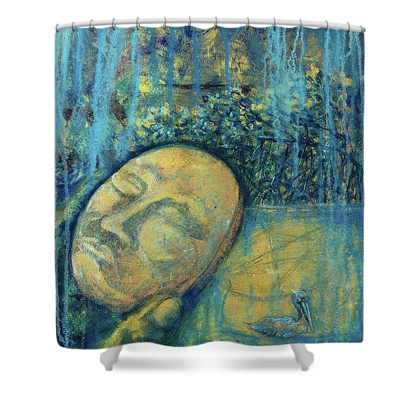 Ace Of Coins Shower Curtain