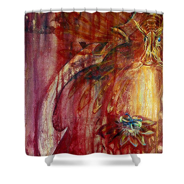 Ace Of Swords Shower Curtain
