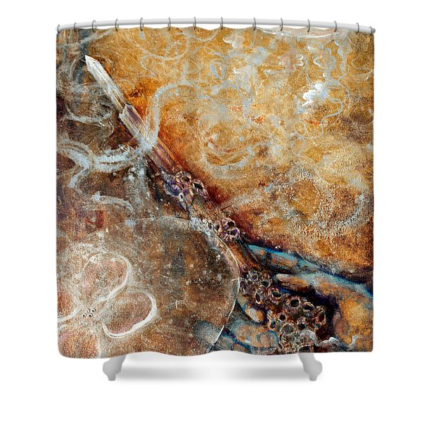 Ace Of Wands Shower Curtain