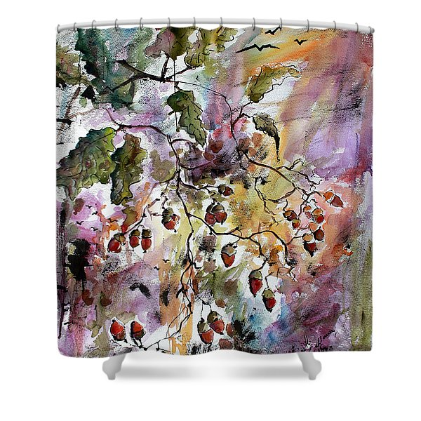 Acorns Autumn Expression Shower Curtain