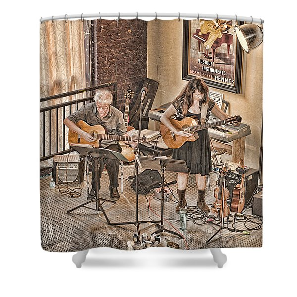 Acoustic Jazz Shower Curtain