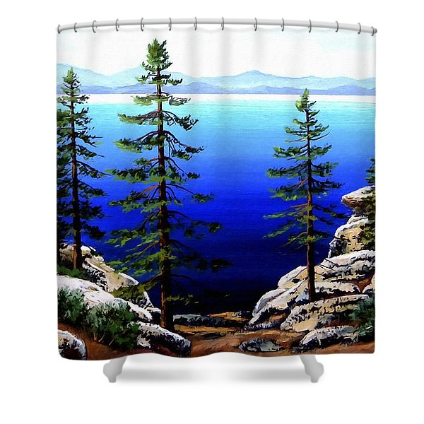 Across Lake Tahoe Shower Curtain