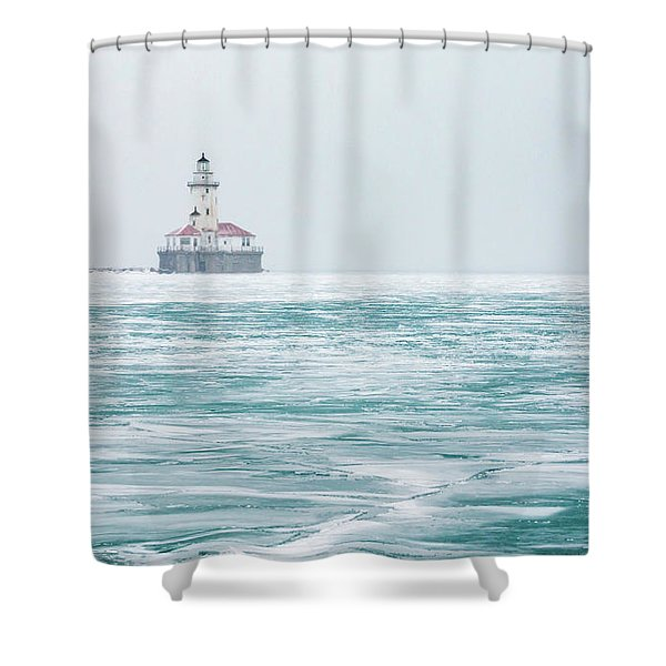Across The Frozen Lake Shower Curtain