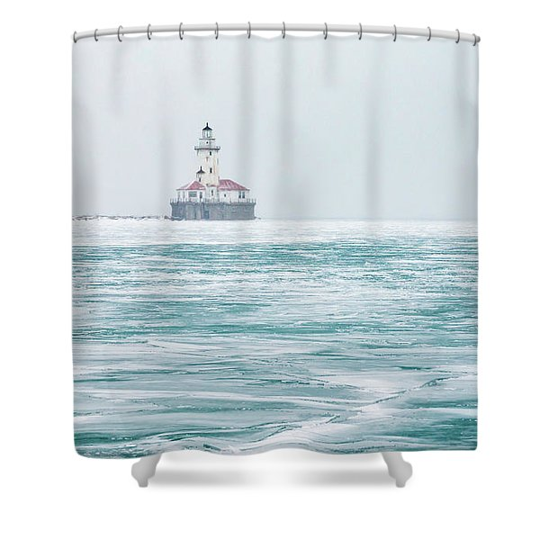 Across The Frozen Lake Shower Curtain