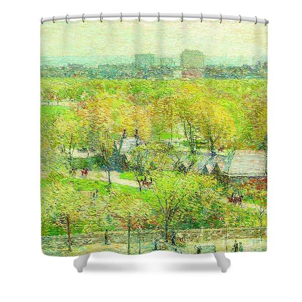 Across The Park Shower Curtain